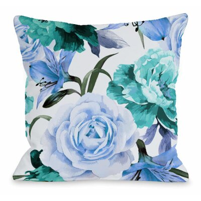 A Floral Afternoon Outdoor Throw Pillow Color: Periwinkle