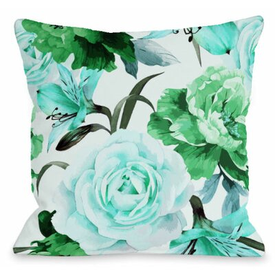 A Floral Afternoon Outdoor Throw Pillow Color: Lime