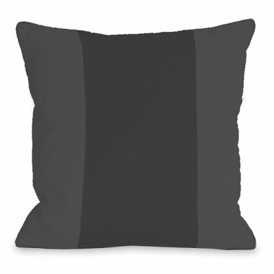 Block Outdoor Throw Pillow Color: Charcoal