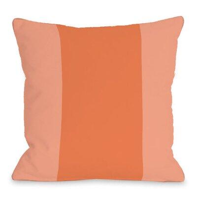 Block Outdoor Throw Pillow Color: Tangerine
