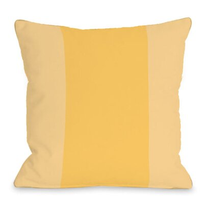 Block Outdoor Throw Pillow Color: Dandelion