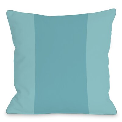 Block Outdoor Throw Pillow Color: Sky