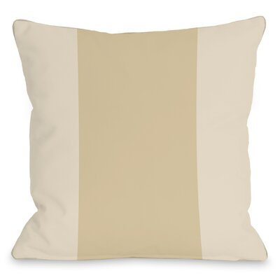 Block Outdoor Throw Pillow Color: Sand