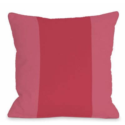 Block Outdoor Throw Pillow Color: Rose