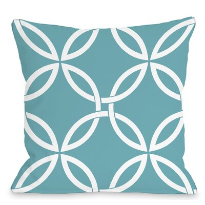 Interwoven Circles Outdoor Throw Pillow Color: Sky