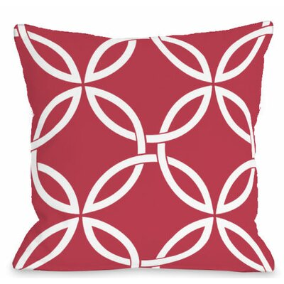 Interwoven Circles Outdoor Throw Pillow Color: Rose