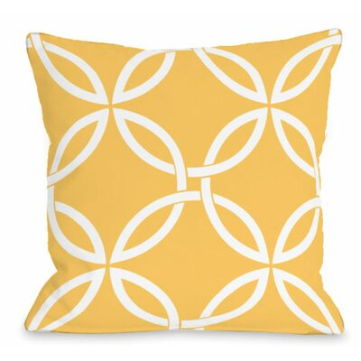 Interwoven Circles Outdoor Throw Pillow Color: Dandelion