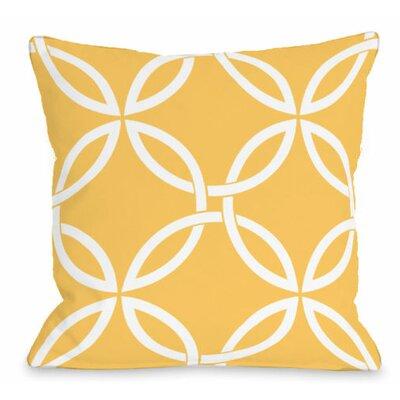 Interwoven Circles Outdoor Throw Pillow Color: Dandelion