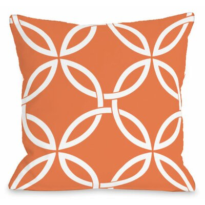 Interwoven Circles Outdoor Throw Pillow Color: Tangerine