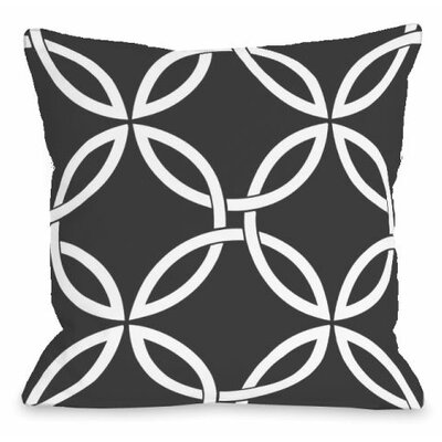 Interwoven Circles Outdoor Throw Pillow Color: Charcoal