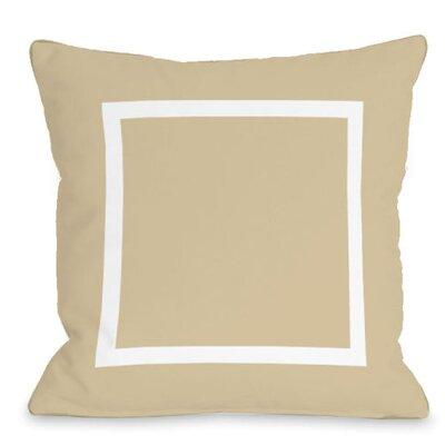 Open Box Outdoor Throw Pillow Color: Sand