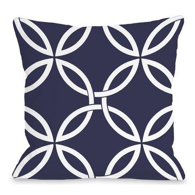 Interwoven Circles Outdoor Throw Pillow Color: Midnight