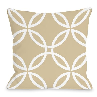 Interwoven Circles Outdoor Throw Pillow Color: Sand
