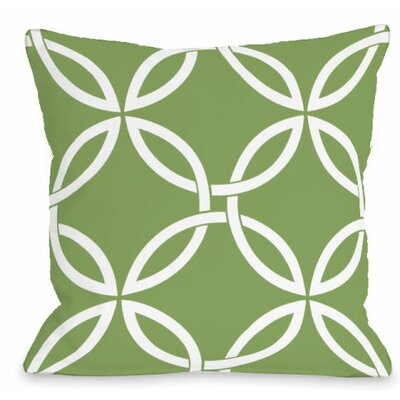 Interwoven Circles Outdoor Throw Pillow Color: Olive