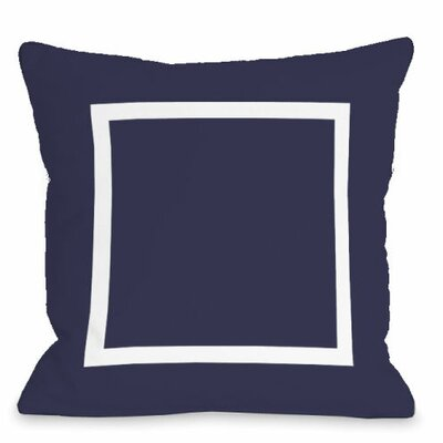 Open Box Outdoor Throw Pillow Color: Midnight