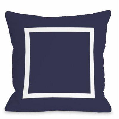 Open Box Outdoor Throw Pillow Color: Midnight
