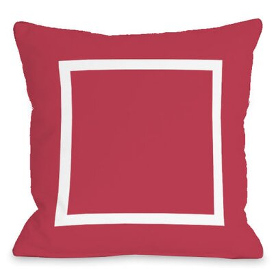 Open Box Outdoor Throw Pillow Color: Rose
