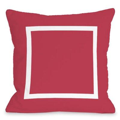 Open Box Outdoor Throw Pillow Color: Rose
