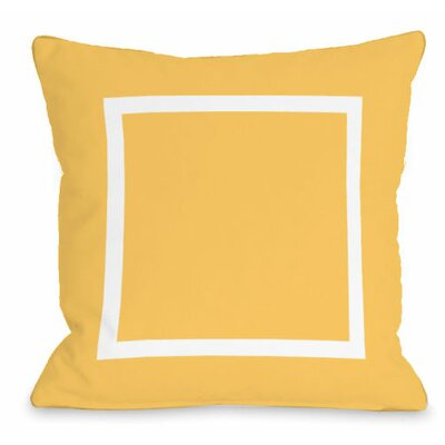 Open Box Outdoor Throw Pillow Color: Dandelion
