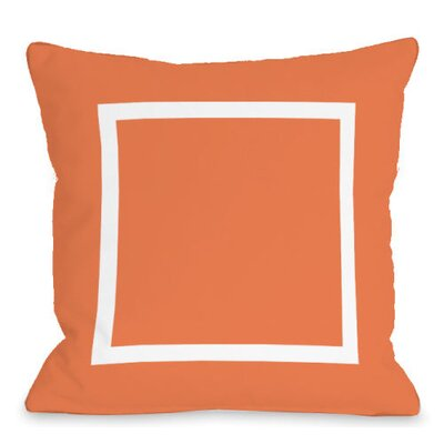Open Box Outdoor Throw Pillow Color: Tangerine