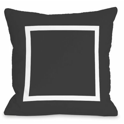 Open Box Outdoor Throw Pillow Color: Charcoal