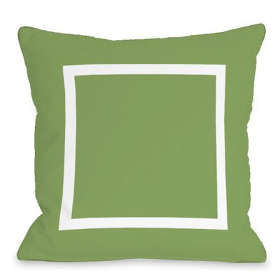 Open Box Outdoor Throw Pillow Color: Olive