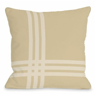 Pop Outdoor Throw Pillow Color: Sand