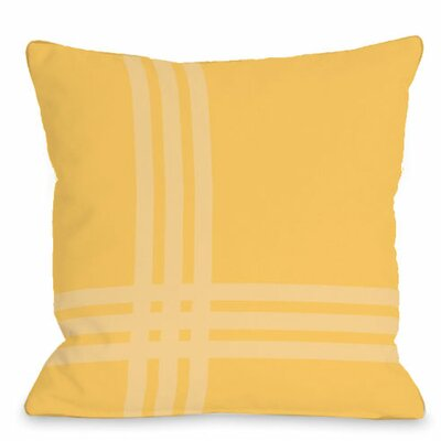Pop Outdoor Throw Pillow Color: Dandelion