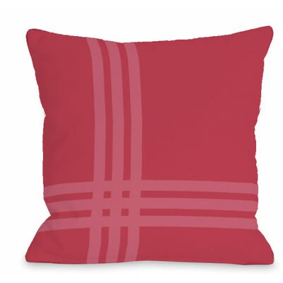 Pop Outdoor Throw Pillow Color: Rose