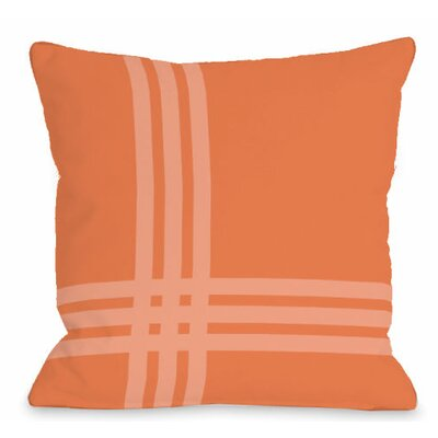 Pop Outdoor Throw Pillow Color: Tangerine