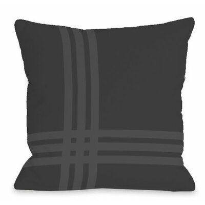 Pop Outdoor Throw Pillow Color: Charcoal