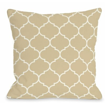 Repeating Moroccan Outdoor Throw Pillow Color: Sand
