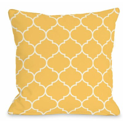Repeating Moroccan Outdoor Throw Pillow Color: Dandelion