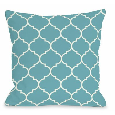Repeating Moroccan Outdoor Throw Pillow Color: Sky