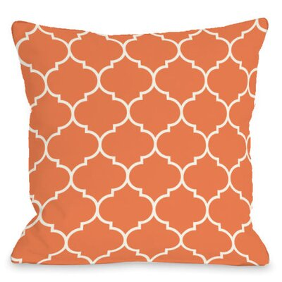 Repeating Moroccan Outdoor Throw Pillow Color: Tangerine