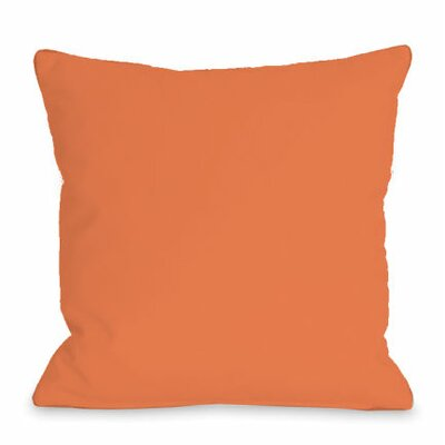 Solid Outdoor Throw Pillow Color: Tangerine