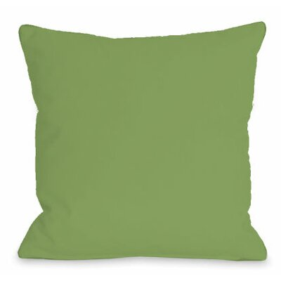 Solid Outdoor Throw Pillow Color: Olive, Size: 18 x 18