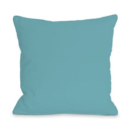 Solid Outdoor Throw Pillow Color: Sky, Size: 18 x 18