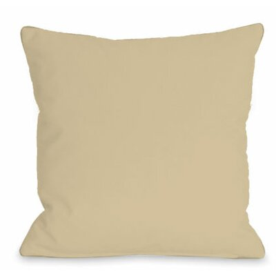 Solid Outdoor Throw Pillow Color: Sand, Size: 18 x 18