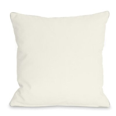 Solid Outdoor Throw Pillow Color: Ivory, Size: 18 x 18
