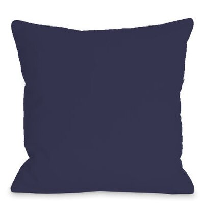 Solid Outdoor Throw Pillow Color: Midnight