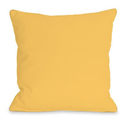 Solid Outdoor Throw Pillow Color: Dandelion, Size: 18 x 18