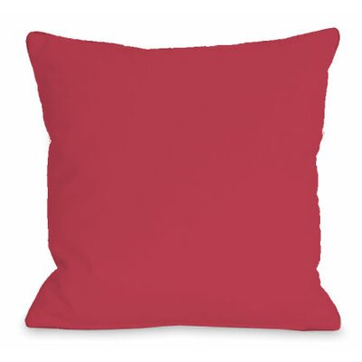 Solid Outdoor Throw Pillow Color: Rose, Size: 18 x 18