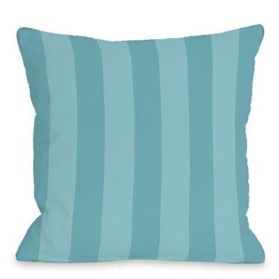 Stripey Outdoor Throw Pillow Color: Sky