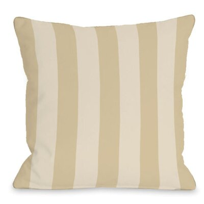 Stripey Outdoor Throw Pillow Color: Sand