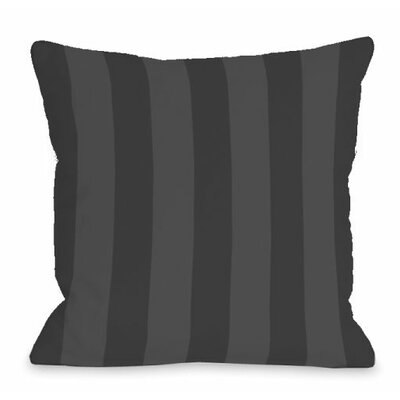 Stripey Outdoor Throw Pillow Color: Charcoal