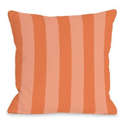 Stripey Outdoor Throw Pillow Color: Tangerine