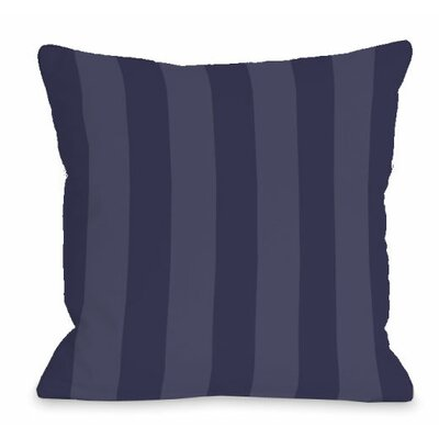 Stripey Outdoor Throw Pillow Color: Midnight