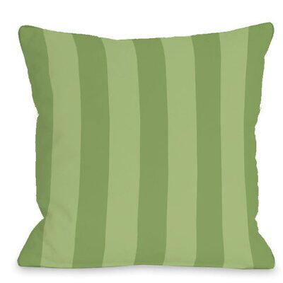 Stripey Outdoor Throw Pillow Color: Olive