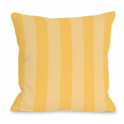 Stripey Outdoor Throw Pillow Color: Dandelion